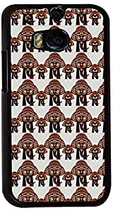 PrintVisa Pattern Elephant Case Cover for HTC One M8