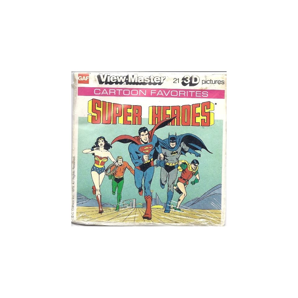 DC Comics Super Heroes 3d View Master 3 Reel Packet