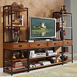 Home Styles Modern Crafts 3 Piece Gaming Entertainment Center - Oak Finish from Home Styles