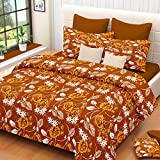 Modish Multicolor Cotton Double Bedsheet With 2 Pillow Cover