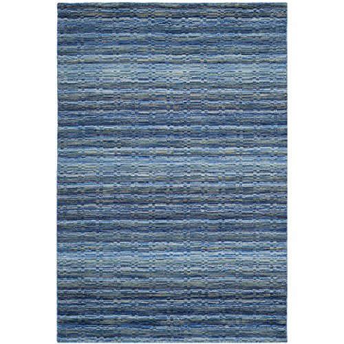 Safavieh Himalaya Collection HIM707A Handmade Blue and Multicolored Wool Area Rug, 2 feet by 3 feet (2' x 3')
