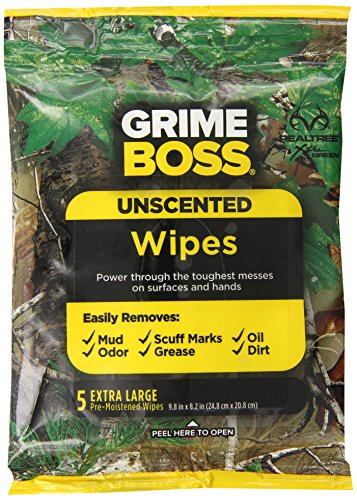 Grime Boss Real Tree Unscented Hands and Everything Wipes, 120 Count