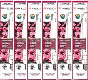 Hortilux HX66785 Super HPS Enhanced Spectrum Grow Bulb, 1000-watt, 6-Pack