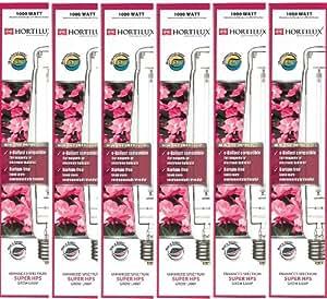 EyeHortilux HX66785 Super HPS Enhanced Spectrum Grow Bulb, 1000-watt, 6-Pack