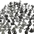 Monster Action Figure Bucket - Big Bucket Of 100 Horror Toy Figures - From Draculas To Frankensteins To Godzillas And Giant Spiders And More from SCS Direct