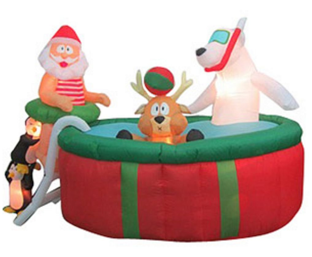 Santa water sports outdoor inflatables christmas wikii