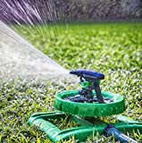 LONG RANGE IMPULSE SPRINKLER SYSTEM - Sturdy Sprinklers Water Entire Lawn And Garden Without Oscillating Systems Waste - A Sprayer For FAST, EASY Watering From Any Hose - 100% Satisfaction Guarantee!