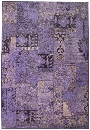 "Rug - Woven ""Brand Luxor Living"" Lilac ""2 Sizes Availlable"" 4Ft3""X6Ft2"""