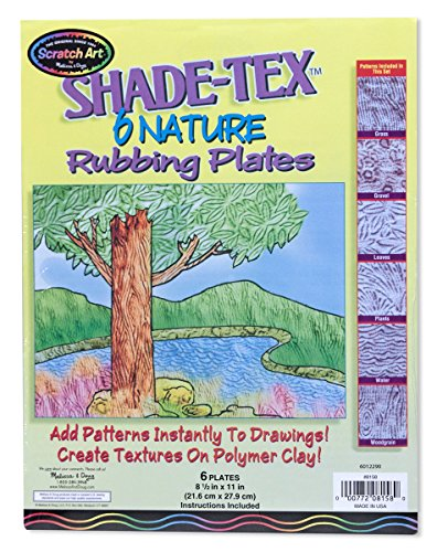Melissa & Doug Shade-Tex Rubbing Plates - Nature Set