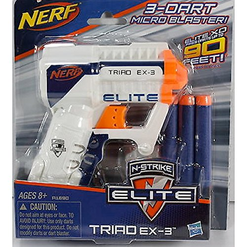 Nerf A1690 N-Strike Elite Triad EX-3 Blaster(Colors may vary) (Mini Nerf compare prices)
