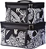 World Traveler Paisley Print Collection Cosmetic Train Case ( 2 piece set)