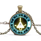 Steampunk Drama Gravity Falls Mysteries BILL CIPHER WHEEL Pendant Necklace (Color: metal)