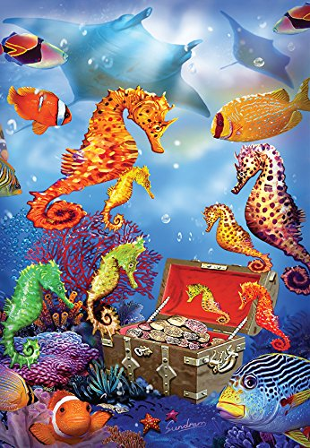 Seahorse Treasure a 100-Piece Jigsaw Puzzle by Sunsout Inc.
