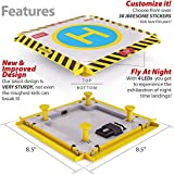 Remote Control Helicopter Landing Pad - Popular Christmas Gift - LED Lights Installed - Suitable for RC Helicopters, Quadcopters, Drones, Syma Helicopters