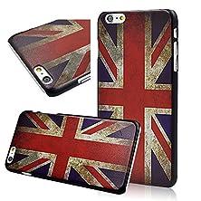 buy Seedan Iphone 6 Plus (5.5 Inch) Case Uk Flag Painting Pc Hard Back Cover Slim Design Black Frame Light Protector