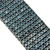 14K White gold Blue Diamond Mens Bracelet 64.35 Ctw