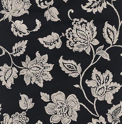 Chantilly Black Wallpaper from Fine Decor