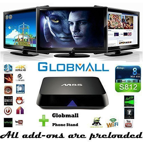 Fantastic Deal! [2016 new arrivals] Globmall M8S Fully Loaded KODI Quad Core Android 4.4 Smart Set T...