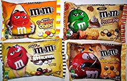 M&M\'s Fall Sampler ~ Pecan Pie, Butterscotch, Candy Corn, S\'Mores (4 Bags)