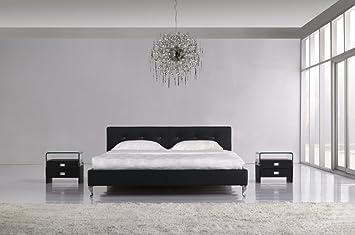 Designer Luxus Marylin Schwarz Wasserbett 180 x 200 cm Mono Designerbett Softside Komplett Set