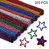 Cuttte 300pcs 10 Colors Pipe Cleaners, DIY Art Craft Decorations Chenille Stems, Assorted Colors, (6 mm x 12 inch) (Tamaño: 300pcs)