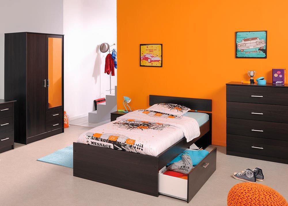 Jumbo-Möbel Kinderzimmer-Set INFINITY in Kaffee 4 tlg m. Bettkasten