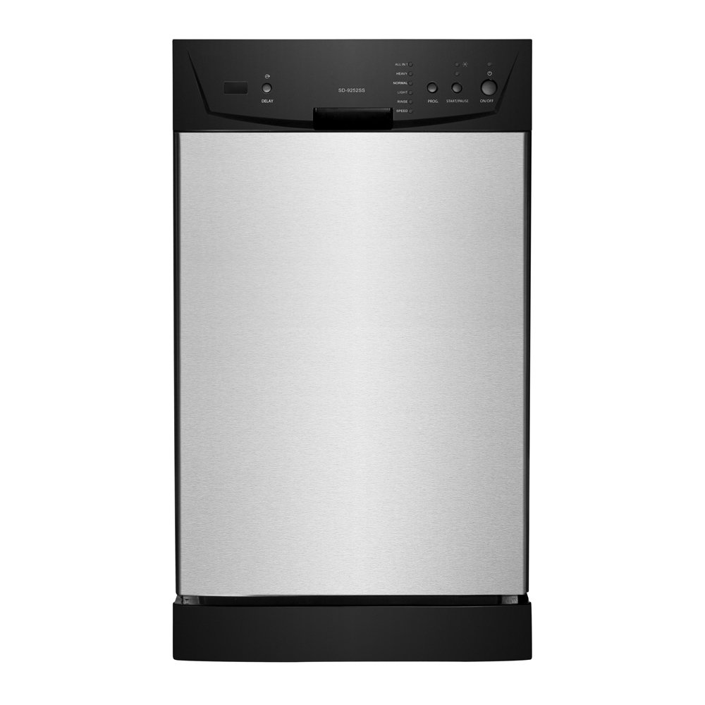 "SPT SD-9252SS Energy Star 18"" Built-In Dishwasher, Stainless Steel"