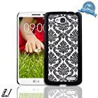 NageBee(TM) - LG Optimus L90 - Diva Lace Damask Design Ultra Slim Translucent Rubber Coating Hard Case + {LCD Screen Protector Shield(Ultra Clear) + Dust Speaker Plug + Touch Screen Stylus} (Lace Case Black)