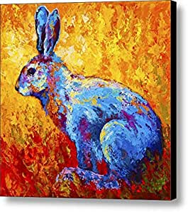 rabbit pattern size 10x10 inch oil painting
