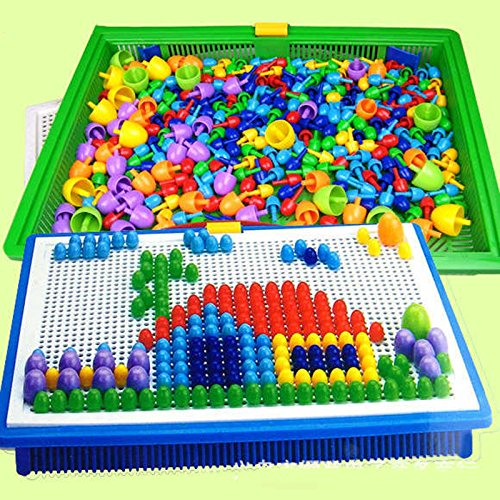 Creative Peg Board with 296 Pegs Model Building Kits Building Toy Intelligence for kids (Lil Tikes Table compare prices)