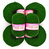 Vardhman Acrylic Knitting Wool, Pack Of 6 (Green) (Pack Of 16)