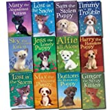 img - for Holly Webb Animal Stories Collection Puppy & kitten 12 Books Set (Timmy in Trouble, Max the Missing Puppy, Sam the Stolen Puppy, Buttons the Runaway, Puppy Harry the Homeless, Puppy Lost in the Storm, Ginger the Stray, Sky the Unwanted Kitten, etc) book / textbook / text book