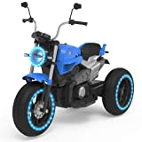 HOVERHEART Kids 3 Wheels Electric Tricycle Ride on Motorcycle 6V Battery Powered (Blue) (Color: Blue)