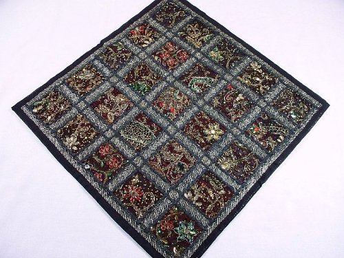 Black Traditional Handmade Home Decorating Floor Pillow