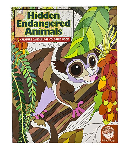 Hidden Endangered Animals Creature Camouflage Coloring Book - 1