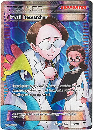 Pokemon Trainer Fossil Researcher Full Art Furious Fists 109/111 - 1