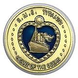 Creative Design 2 en 1 monedas conmemorativas extraíbles corazón titánico del océano con hierro plateado bronce monedas de 45 mm * 3 mm