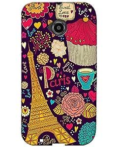 MobileGabbar Back Cover For Motorola Moto E2 (2nd Gen)