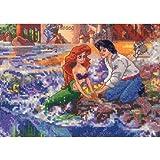 MCG Textiles 52558Vignette The Little Mermaid Vignette Cross Stitch Disney Dreams Collection Kit by Thomas Kinkade