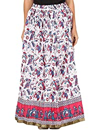 Saadgi Rajasthani Hand Block Printed Handcrafted Ethnic Lehnga Skirt For Women/Girls - B06XGHYXLX