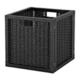 LARGE BASKET SUITABLE FOR EXPEDIT BOOKCASE, STORAGE BASKET - BLACK
