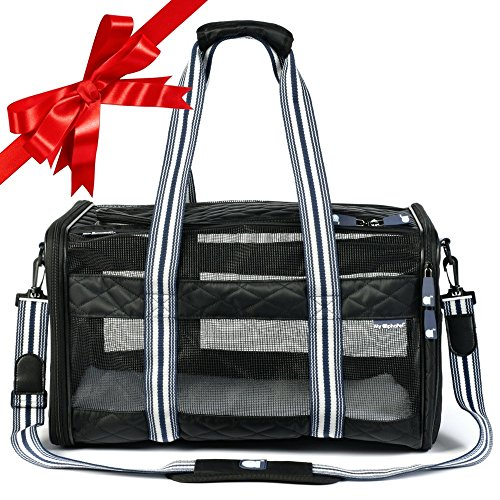 Deluxe Soft Sided Pet Carrier – Airline Approved – Stylish Quilted Design