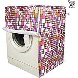E-Retailer Purple Square Design Front Loading Washing Machine Cover (Suitable For 6 Kg, 6.5 Kg, 7 Kg, 7.5 Kg)