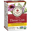 Traditional Medicinals Organic Throat Coat Lemon Echinacea Tea, 16 Tea Bags (Pack of 6)