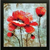 SAF Flower Painting    Floral Painting    Flower Poster    Flower Wall Stickers    SAF Exclusive Framed Wall Art Paintings For Living Room And Bedroom. Frame Size (12 Inch X 12 Inch, (Wood, 30 Cm X 3 Cm X 30 Cm, Special Effect Textured)