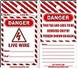 KRM LOTO DANGER - LIVE WIRE TAGS (Set of 10 pcs)