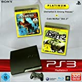 echange, troc PS3 - Konsole Slim Black 320GB inkl. Uncharted 2: Among Thieves + Colin McRae Dirt 2 [import allemand]