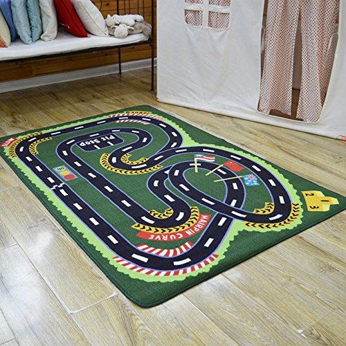Yazi Tappeto da gioco Childen Crazy Race Track Boy Girl Tappeto Funny Tappeto per Baby Room decor regalo 100x 150