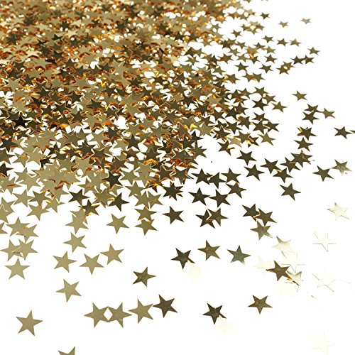 Sale!! Bilipala Table Confetti, Star Confetti, Party Supplies, 0.4 Inch, 1 Ounce, Golden
