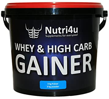 Nutri4u WHEY & HIGH CARB GAINER, Vanille, Weight Gainer, (1 x 3 kg)